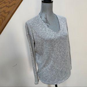 Audrey V-neck Neutral Fine Knit Sweater